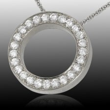 Diamond Spherical Cremation Pendant III