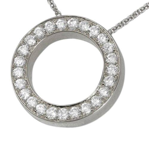 Diamond Spherical Cremation Pendant