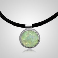 Pearl Dichroic Silver Opal Cremation Ash Pendant