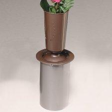 Dignidad Bronze Cemetery Vase