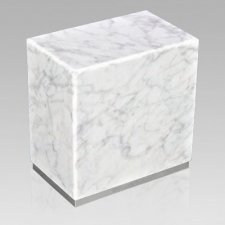 Dignity Silver Carrera Marble Urn
