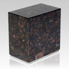 Dignity Silver Tan Brown Granite Urn
