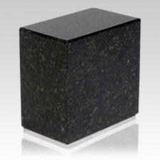 Dignity Silver Verde Granite Urn