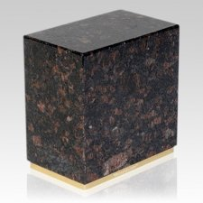 Dignity Tan Brown Granite Cremation Urn