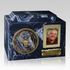 Distinction Navy Cremation Urn