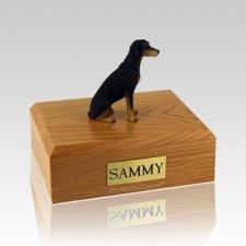 Doberman Black Large Dog Urn