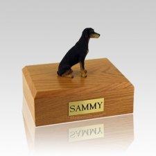Doberman Black Medium Dog Urn