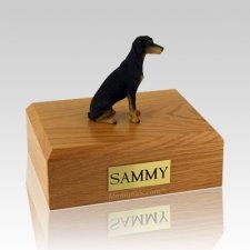 Doberman Black X Large Dog Urn