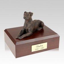 Doberman Bronze Ears Down Large Dog Urn