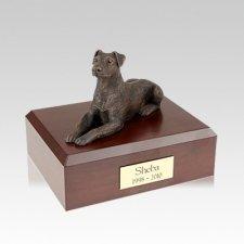 Doberman Bronze Ears Down Medium Dog Urn