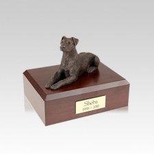 Doberman Bronze Ears Down Small Dog Urn