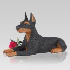 Doberman Pincher Pet Cremation Urn