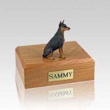 Doberman Red Small Dog Urn