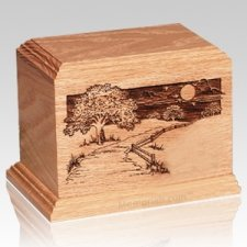 Dog Heaven Oak Pet Urn