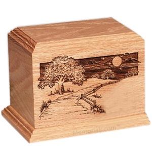 Dog Heaven Oak Pet Urn