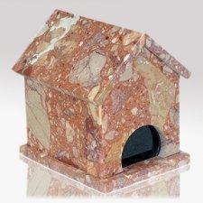 Dog House Breccia Stone Pet Urn