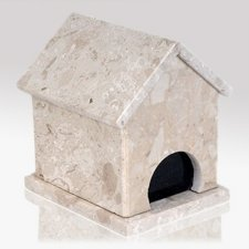Dog House Perlato Stone Pet Urn