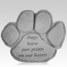 Dog Paws Memorial Stone