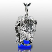 Dog Spirit Blue Pet Ash Urn Necklace