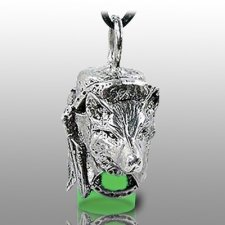Dog Spirit Green Pet Ash Urn Necklace