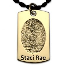 Dog Tag 18k Gold Print Keepsake