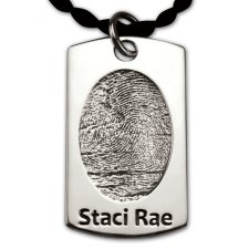 Dog Tag Silver Print Keepsake