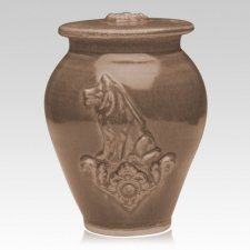 Dog Hannah Brown Ceramic Cremation Urn