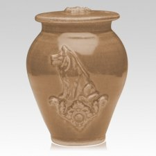 Dog Pale Apple Ceramic Cremation Urn