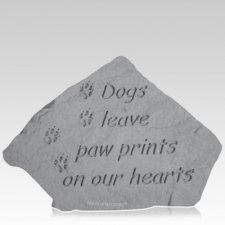 Dogs Paws Garden Stone