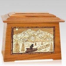 Dogsled Mahogany Aristocrat Cremation Urn