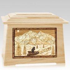 Dogsled Maple Aristocrat Cremation Urn