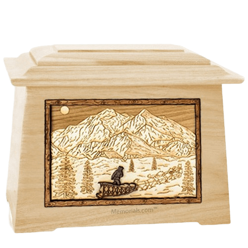 Dogsled Maple Aristocrat Cremation Urn