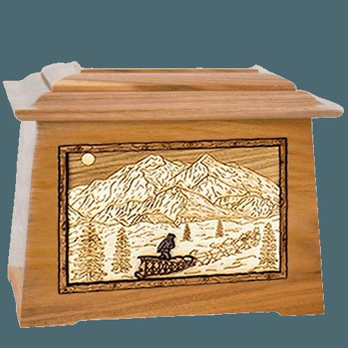Dogsled Oak Aristocrat Cremation Urn