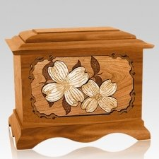 Dogwood Mahogany Cremation Urn