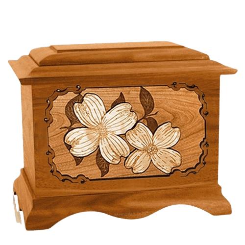 Dogwood Mahogany Cremation Urn