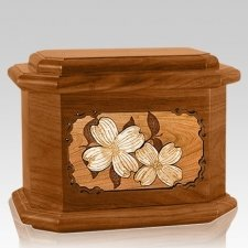 Dogwood Mahogany Octagon Cremation Urn