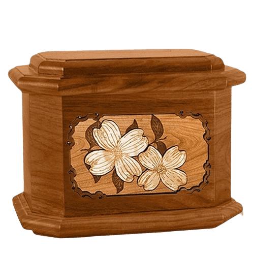 Dogwood Mahogany Octagon Cremation Urn