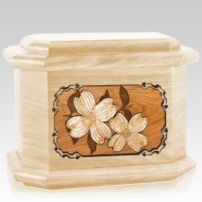 Dogwood Maple Octagon Cremation Urn