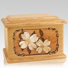 Dogwood Oak Memory Chest Cremation Urn