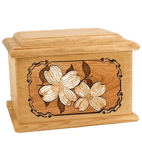 Dogwood Oak Memory Chest Cremation Urn
