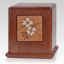 Dogwoods Wood Cremation Urn