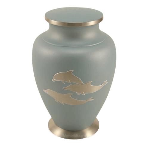 Dolphin Blue Cremation Urn