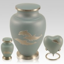 Dolphin Blue Cremation Urns