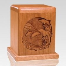 Dolphin Cherry Keepsake Cremation Urn