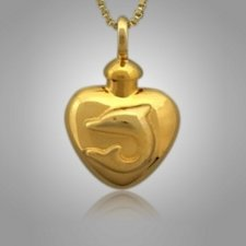 Dolphin Heart Cremation Jewelry II