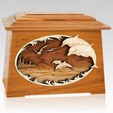 Dolphins Mahogany Aristocrat Cremation Urn