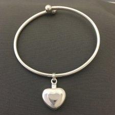 Double Heart Ash Cremation Bracelet