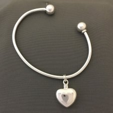 Double Heart Cremation Bangle