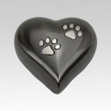 Double Paw Heart Pet Keepsake Urn