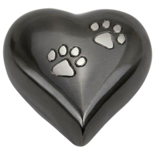 Double Paw Heart Pet Keepsake Urn